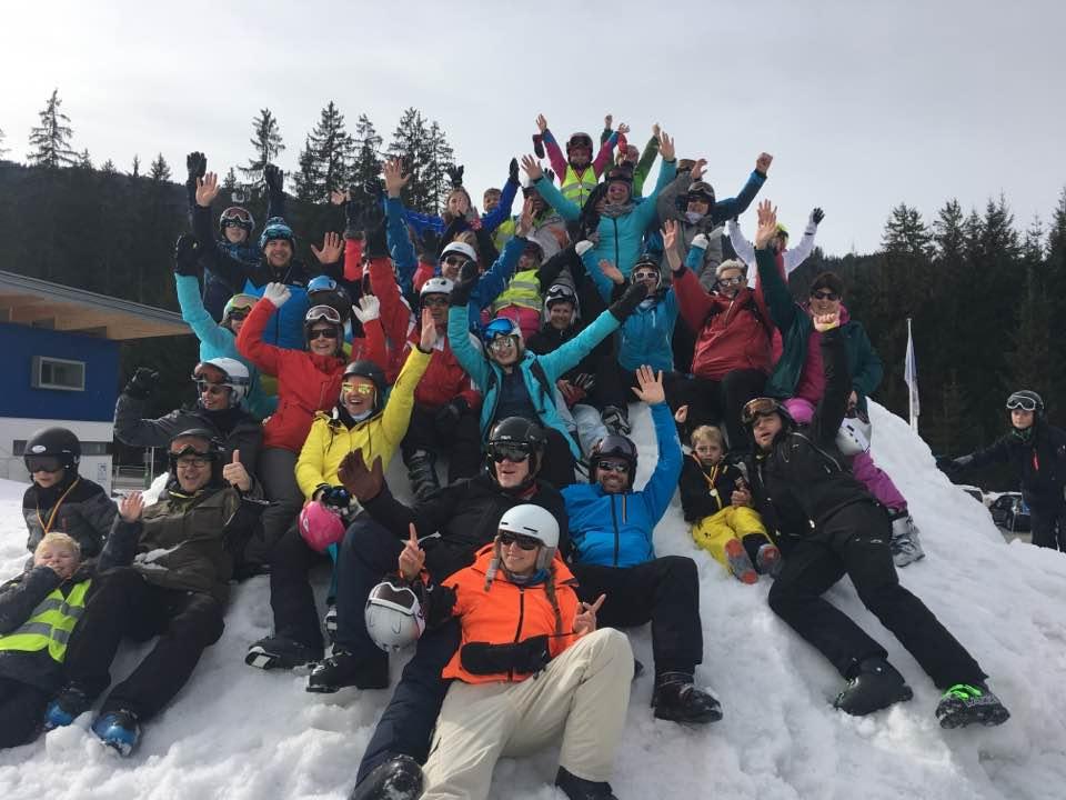skivakantie groep sfeer