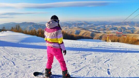shortski snowboarden